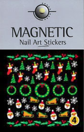 Naglar Christmas Nail Art Sticker  - 4