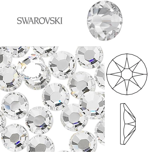 Naglar Swarovski Crystal Clear SS16 (3,80-4,00mm) - 40 st