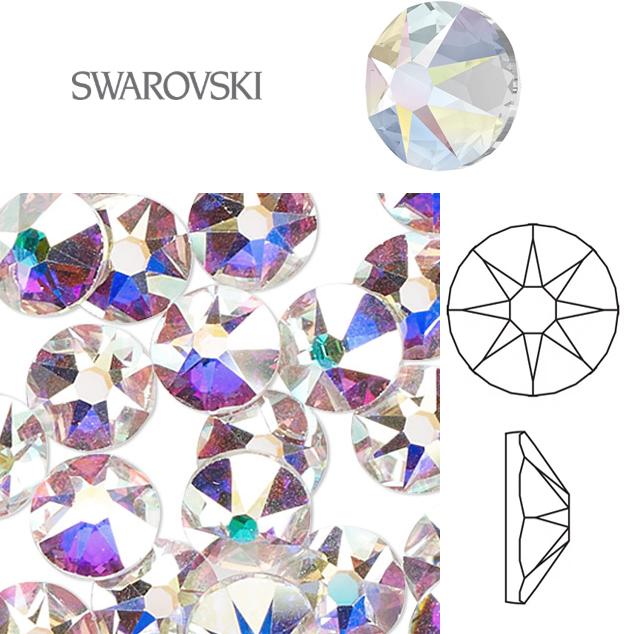 Naglar Swarovski Crystal Clear AB SS16 (3,80-4,00mm) - 40 st
